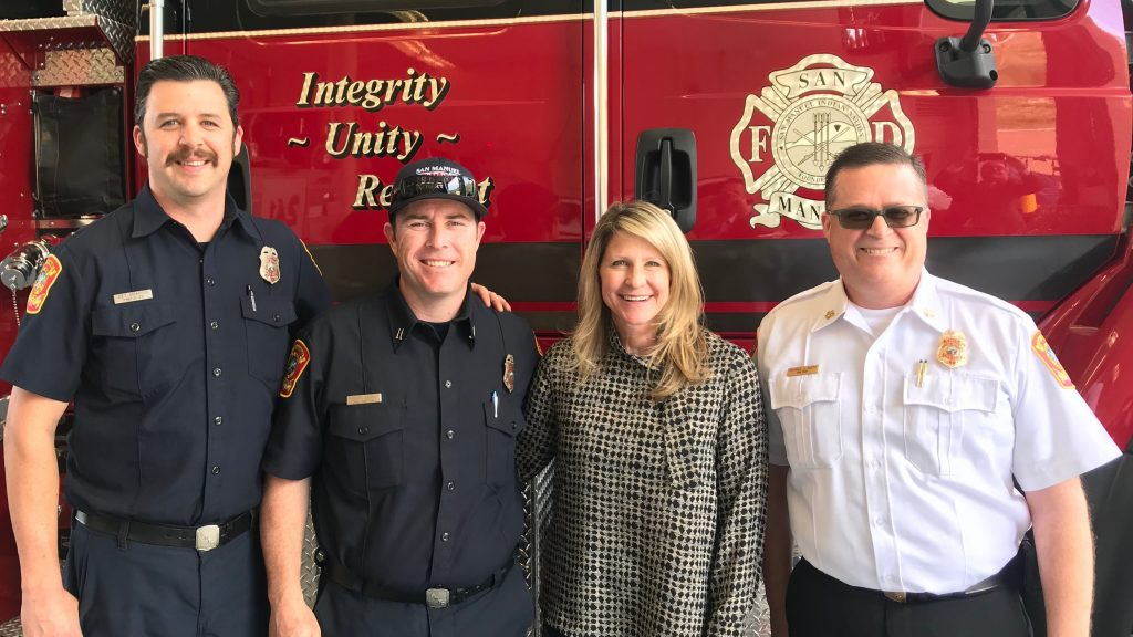 Supervisor Rutherford with Fire Department